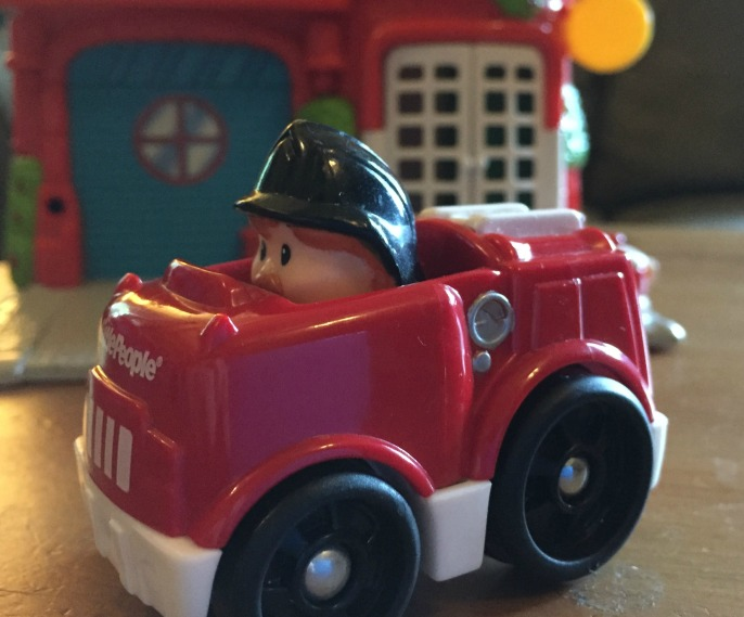 toy fire engine station