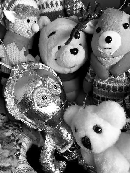 bw toy ornaments